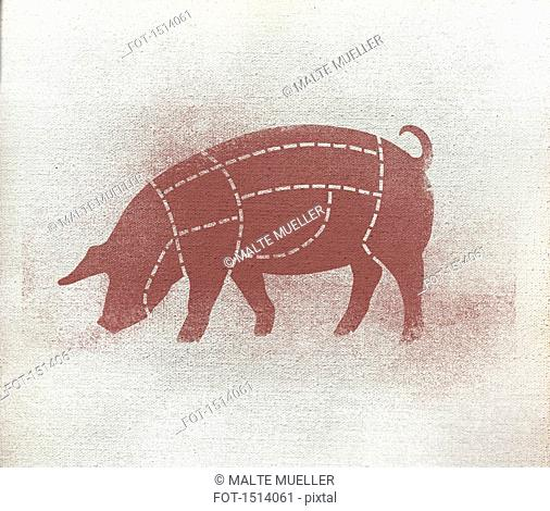 fot 1514061 butcher's diagram pig stock photos and images age fotostock
