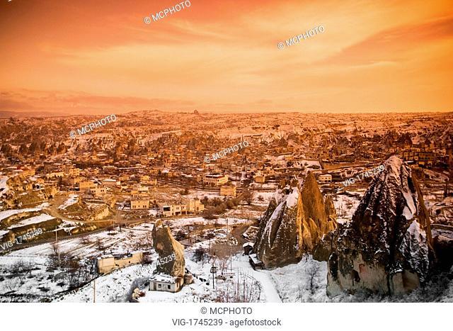 Goreme, Cappadocia, Turkey during the freezing winter months. - 17/12/2007
