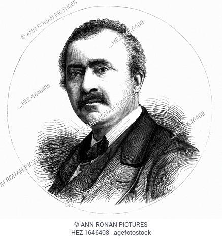 Dr Heinrich Schliemann, German explorer and archaeologist, 19th century. Schliemann (1822-1890) pioneered prehistoric Greek archaeology