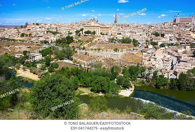 Toledo skyline in Castile La Mancha of Spain