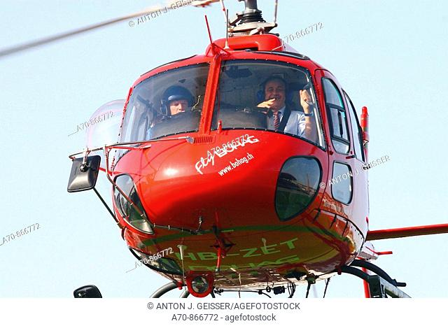 UEFA Euro 2008. UEFA boss Michel Platini in helicopter