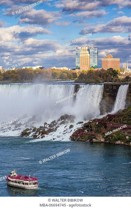 Canada, Ontario, Niagara Falls, Bridal Veil Falls, American Falls