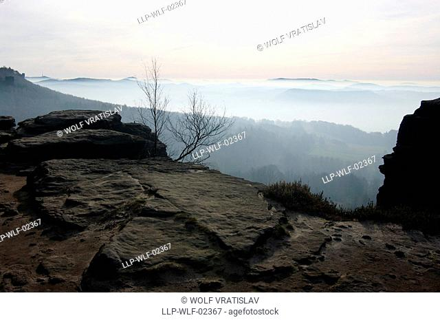 Tyssaer Wände Rocks, the Northern Bohemia, Czech Republic