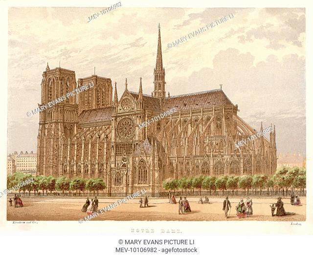 Notre Dame de Paris, in all its gothic splendour