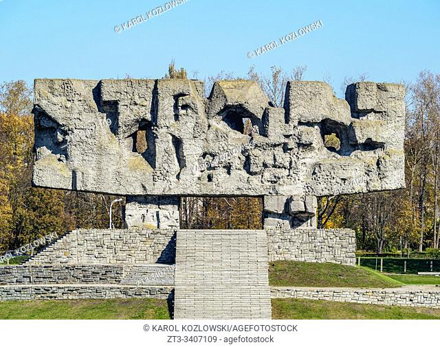 Memorial at Majdanek, German Nazi concentration and extermination camp, Lublin, Lublin Voivodeship, Poland