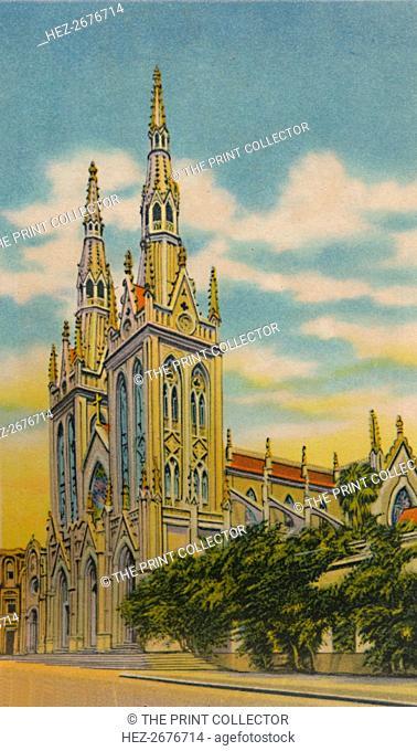 'San Roque Church, Barranquilla', c1940s. Artist: Unknown