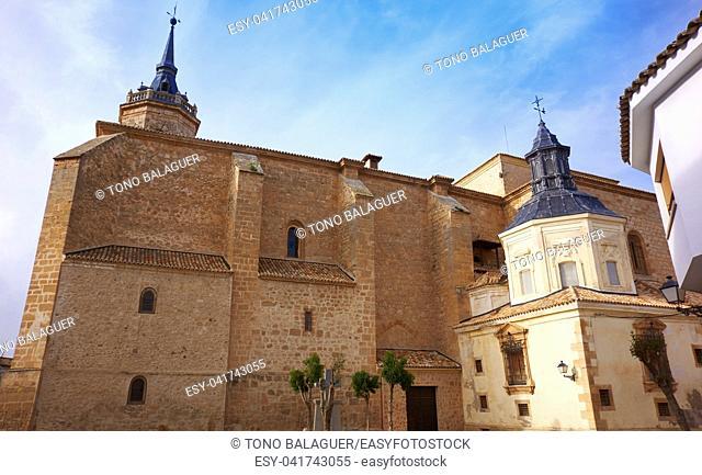 Tembleque church in Toledo at Castile La Mancha on Saint james way
