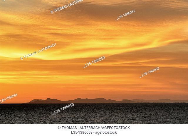 Coast of Spain in San Pedro del Pinatar, Region of Murcia, Spain. Viewed from the Mediterranean