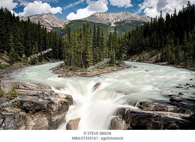 Sunwapta Falls - Waterfall, Jasper National Park, Canada