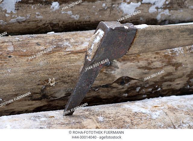 Holzbringung bei Hammer (Gmd. Siegsdorf) herrlichem Winterwetter - Historischer Winterzug - an der Blaserhütte in Hachau