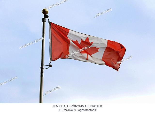 Canadian Flag, Fort Wellington National Historic Site, Prescott, Ontario, Canada