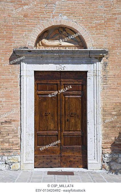 St. Maria del Serraglio Portal Church. Corciano. Umbria