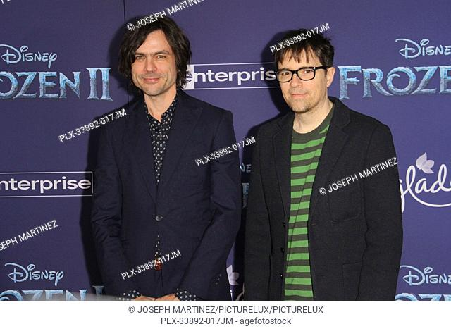 """Weezer (Brian Bell, Rivers Cuomo) at Disney's """"""""Frozen II"""""""" World Premiere held at the Dolby Theatre in Hollywood, CA, November 7, 2019"""