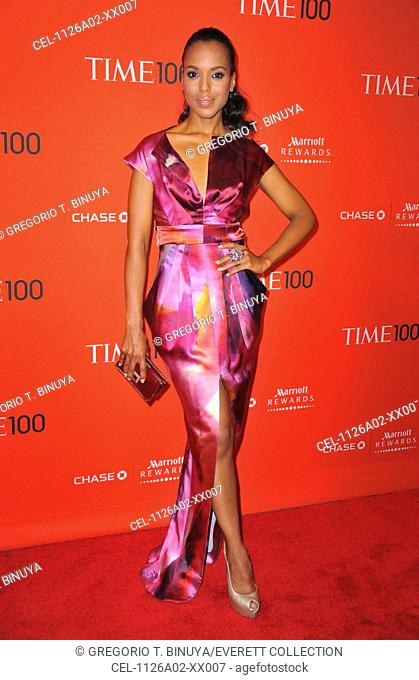 Kerry Washington (wearing a dress by Malandrino) at arrivals for TIME 100 GALA, Frederick P. Rose Hall - Jazz at Lincoln Center, New York, NY April 26, 2011