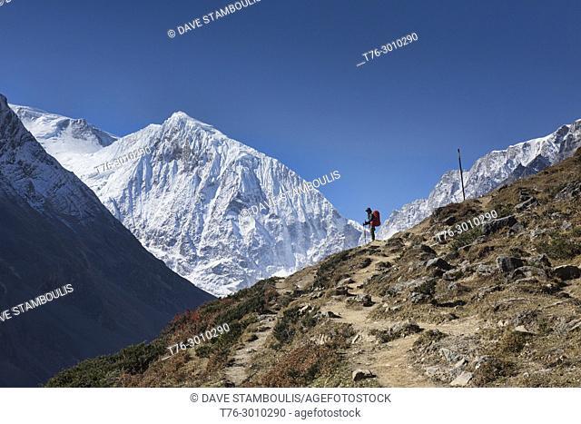 Trekking to the Larkya La Pass on the Manaslu Circuit, Nepal