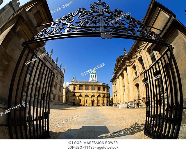 The Clarendon with Sheldonian Theatre and Bodleian Library in Oxford