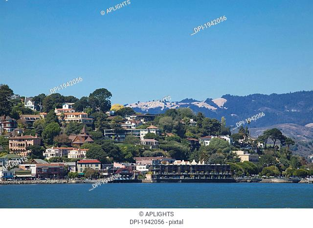 residential area along the waterfront, sausalito california united states of america