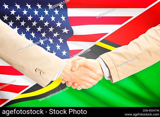 Businessmen shaking hands - United States and Vanuatu