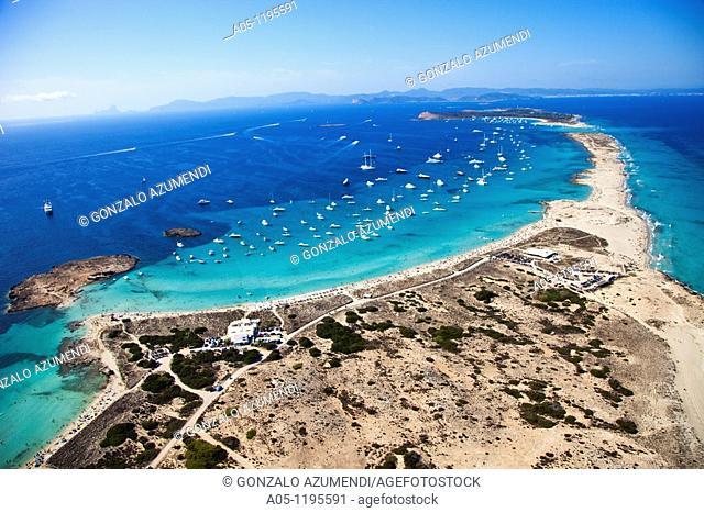 Ses Salines Natural Park. Ses Illetes Beach. Formentera Island. Balearic Islands. Spain