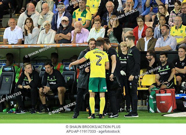 2017 EFL Championship Football Norwich City v QPR Aug 16th. August 16th 2017, Carrow Road, Norwich, England; EFL Championship Football