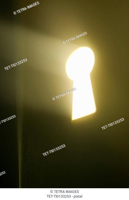 Close up of keyhole
