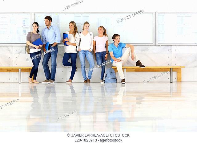 bulletin board, Students, School of Business, UPV, EHU, University of Basque Country, San Sebastian, Donostia, Gipuzkoa, Basque Country, Spain