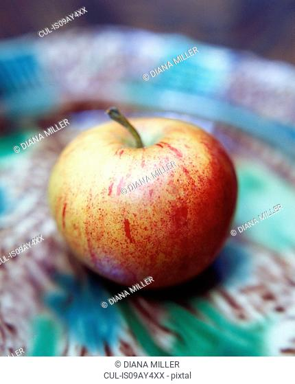 Food, fruit, apple in colourful bowl