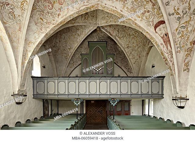 Germany, Schleswig-Holstein, Oeversee municipality, St.-Georg-Kirche, St. Georg's Church, organ