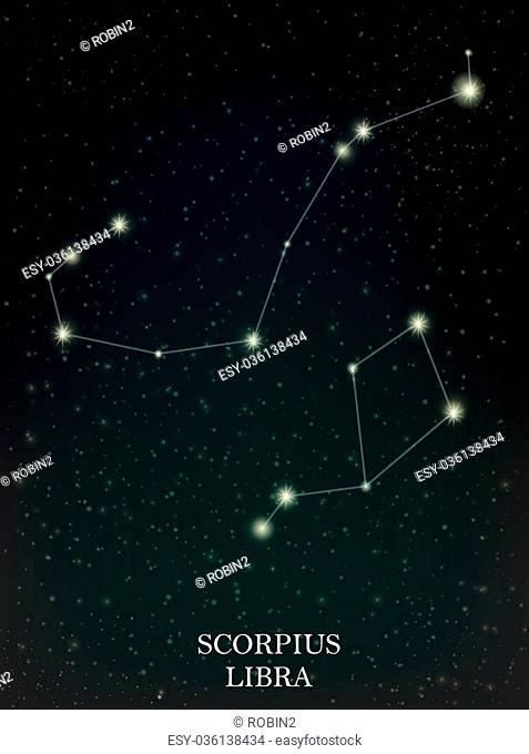 Constellation scorpius libra Stock Photos and Images | age