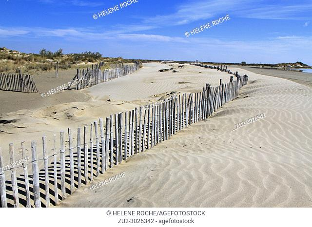Beach in Camargue, Provence, France