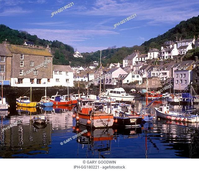 Polperro harbour in early morning light