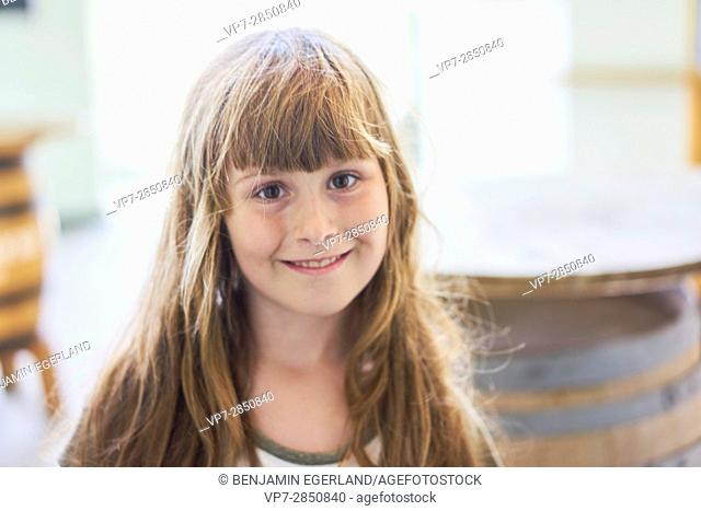 portrait of young innocent girl