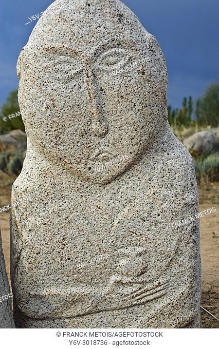 "Anthropomorphic stele (""""balbal"""") ( Cholpon ata, Kyrgyzstan)"