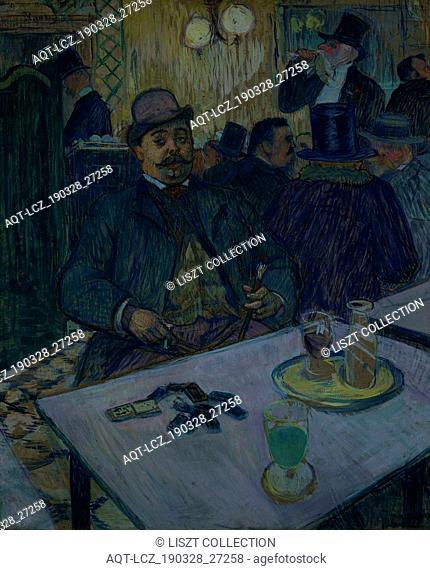 Monsieur Boileau at the Café, 1893. Henri de Toulouse-Lautrec (French, 1864-1901). Gouache; sheet: 80 x 65 cm (31 1/2 x 25 9/16 in.); framed: 105