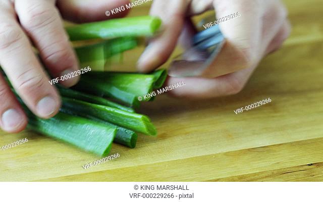 CU Hands cutting chive