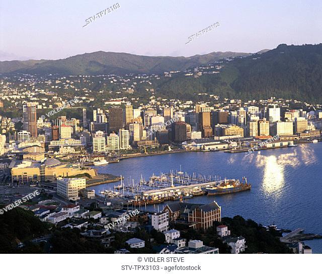 City, Harbour, Holiday, Landmark, New zealand, North island, Skyline, Tourism, Travel, Vacation, Wellington