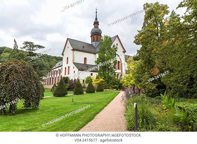 Historic Eberbach Abbey, filming location for the movie The Name of the Rose, near Eltville am Rhein, Hesse, Germany, Europe