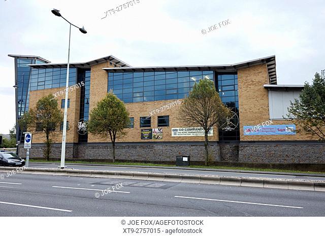 Ty Llewellyn army reserve barracks Cardiff Wales United Kingdom