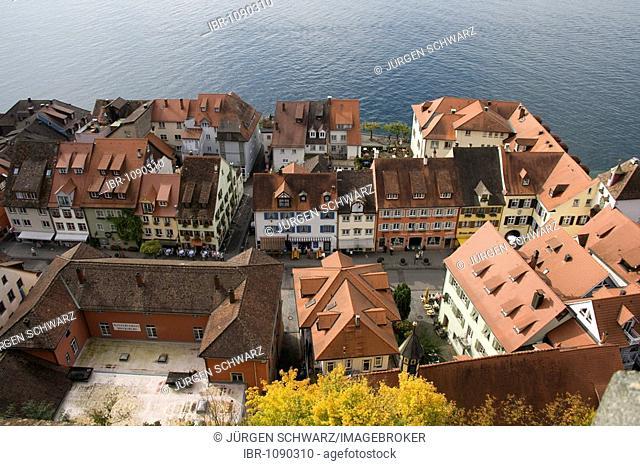 View of the Unterstadt village, Meersburg, Lake Constance, Baden-Wuerttemberg, Germany