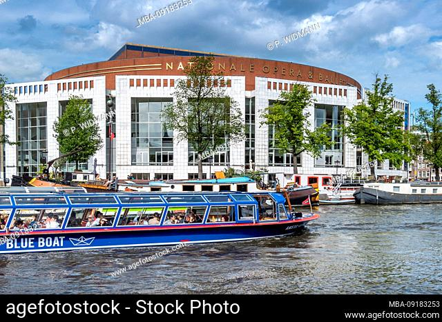 De Nationale Opera, Dutch Opera, Opera, Gracht Amstel, Amsterdam, Holland, Netherlands, Europe