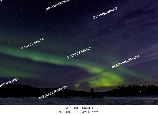 Northern lights on sky