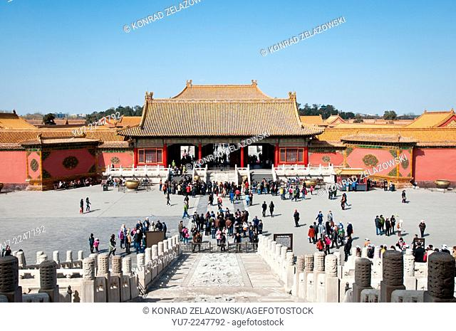 Heavenly Purity Gate (Qianqingmen) in Forbidden City, Beijing, China