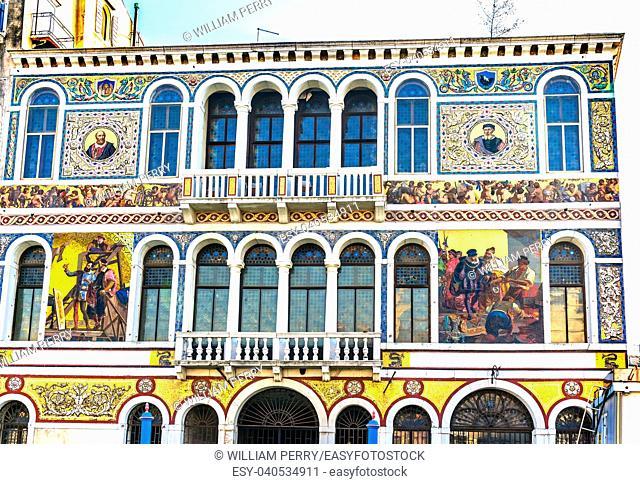 18th Century Barbarigo Palace From Grand Canal Venice Italy. Salviati mosaics from 1867