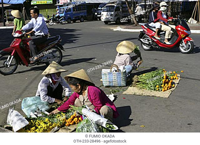 Morning market at Vung Tau City, Vietnam