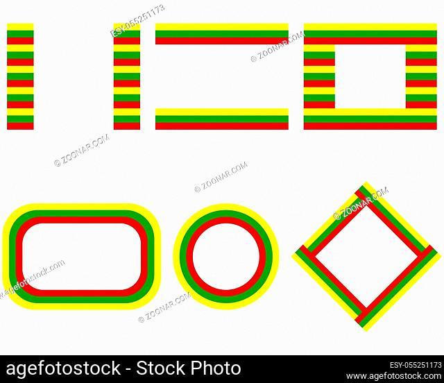 Fahnen von Litauen mit Textfreiraum - Flags of Lithuania with copy space