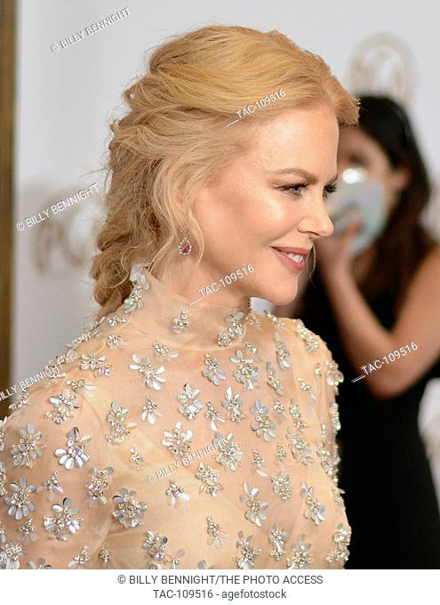 Nicole Kidman arrives at the 28th Annual Producers Guild Awards at The Beverly Hilton Hotel in Beverly Hills, California on January 28, 2017