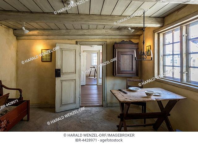 Hans Christian Andersen House and Museum, birthplace, indoors, Odense, Southern Denmark, Denmark