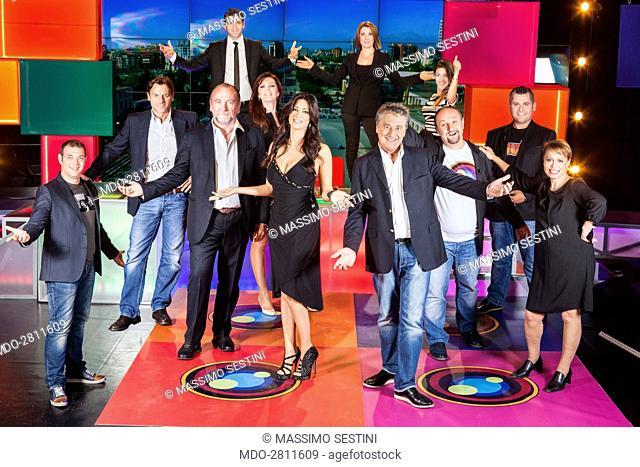 Artion Vreto, the journalist Alessio Vinci, the president of Agon Channel Francesco Becchetti, Qetsor Feruni, Sonila Meco, the presenter Manuela Arcuri