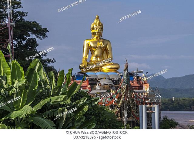 Big Buddha in Sop Ruak, Golden Triangle, Chiang Rai Province, Thailand, Asia