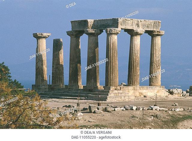 Greece - Peloponnesus - Corinth. Temple of Apollo